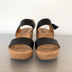 05729f3da4f Kork-Ease Shoes - Korks Kork-Ease Tome Black Platform Wedge Sandals